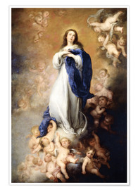 Poster  Immaculate Conception of Mary - Bartolome Esteban Murillo