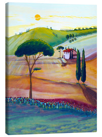 Tableau sur toile  Tuscany is beautiful - Christine Huwer