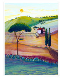 Poster Tuscany is beautiful