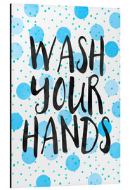 Tableau en aluminium  Wash your hands - Elisabeth Fredriksson