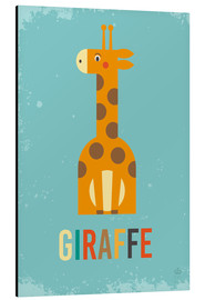 Alu-Dibond  Baby Giraffe for the nursery - Petit Griffin