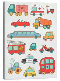 Toile  So many cars for the nursery - Petit Griffin