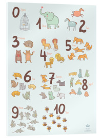 Verre acrylique  Animal numbers for the nursery - Petit Griffin