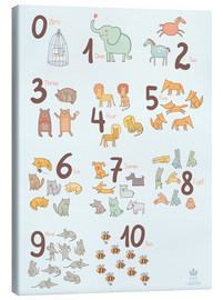Toile  Animal numbers for the nursery - Petit Griffin