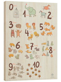 Bois  Animal numbers for the nursery - Petit Griffin