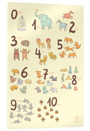 Verre acrylique  Zoological numbers for nursery - Petit Griffin