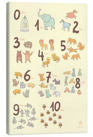 Toile  Zoological numbers for nursery - Petit Griffin