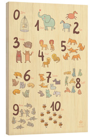 Bois  Zoological numbers for nursery - Petit Griffin
