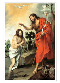Poster The baptism of christ