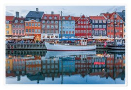Poster  Nyhavn reflected - Scott McQuaide