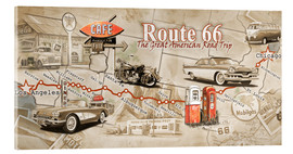 Verre acrylique  Route 66 Map - Georg Huber