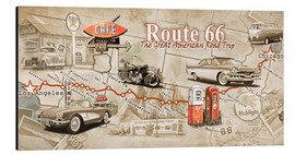 Alu-Dibond  Route 66 Map - Georg Huber
