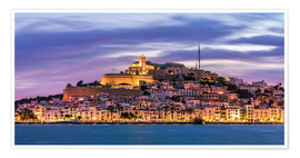 Poster  Vue sur Ibiza - FineArt Panorama