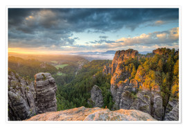 Poster  Saxon Switzerland Sunrise - Michael Valjak