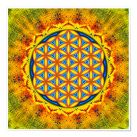 Poster Flower Of Life - Autumn Sun