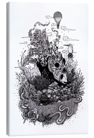 Tableau sur toile  Land of the Sleeping Giant (Ink) - Mat Miller