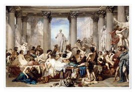Poster  Roman decadence - Thomas Couture