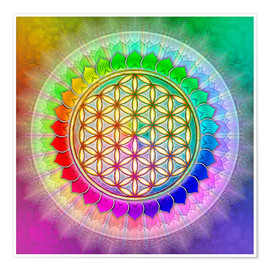 Dirk Czarnota - Flower of Life - Rainbow Lotus Artwork II