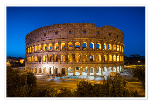 Poster Colosseum in Rome at night