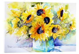 Verre acrylique  Sunflowers in Vase - Brigitte Dürr