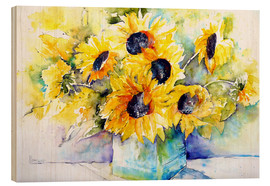 Bois  Sunflowers in Vase - Brigitte Dürr