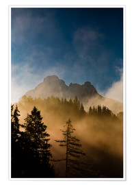 Poster  Foggy Morning in the Alps - Michael Helmer