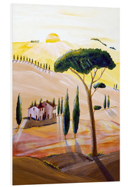 Tableau en PVC  Tuscany in the morning - Christine Huwer