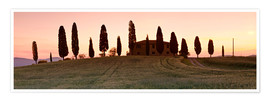 Poster House with cypresses, Tuscany