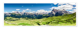 Poster  Seiser Alm panoramic view, South Tyrol - Sascha Kilmer