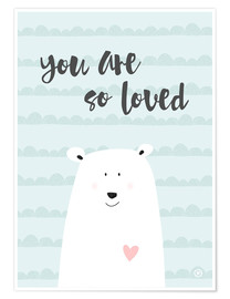 Poster  You are so loved - Menthe - m.belle