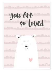 Poster  You are so loved, rose - m.belle