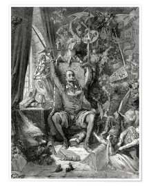 Poster  Don Quixote, a world of disorder - Gustave Doré