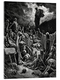Verre acrylique  The Vision of The Valley of The Dry Bones - Gustave Doré