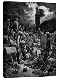 Toile  The Vision of The Valley of The Dry Bones - Gustave Doré