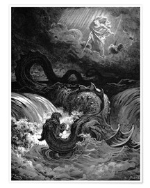 Poster  Marduk slaying Tiamat - Gustave Doré