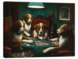 Toile  Le jeu de poker - Cassius Marcellus Coolidge