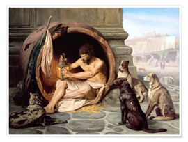 Jean Leon Gerome - Diogenes in his barrel