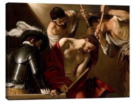 Toile  The Crowning with Thorns - Michelangelo Merisi (Caravaggio)