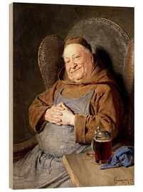 Bois  Sitting monk with tankards - Eduard Grützner