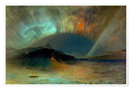 Poster  Northern lights - Frederic Edwin Church