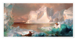 Poster  The icebergs - Frederic Edwin Church