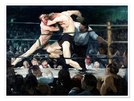 Poster  Rencontre de boxe chez Sharkey - George Wesley Bellows