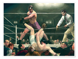 Poster  Dempsey et Firpo - George Wesley Bellows
