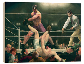 Tableau en bois  Dempsey and Firpo - George Wesley Bellows
