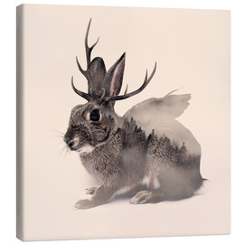 Toile  wolpertinger - Peg Essert