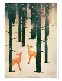 Poster  Winter Deer - Sybille Sterk
