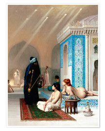 Poster  Bad in the harem - Jean Leon Gerome
