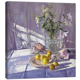 Tableau sur toile  Still Life Flowers and Lemons - Timothy Easton