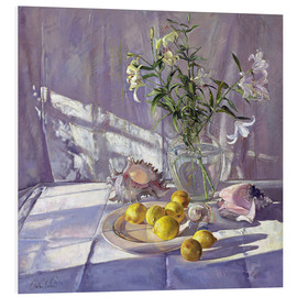 Timothy Easton - Still Life Flowers and Lemons