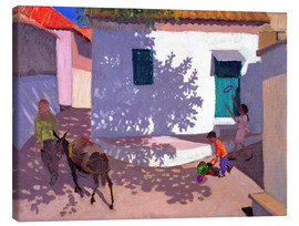 Tableau sur toile  Green Door and Shadows, Lesbos, 1996 - Andrew Macara